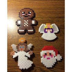 Christmas perler beads by nicolequinneyy Melty Bead Patterns, Pearler Bead Patterns, Perler Patterns, Pearler Beads, Beading Patterns, Christmas Perler Beads, Art Perle, Beading For Kids, Hama Beads Design