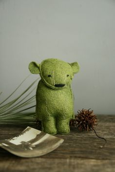 How sweet is this bear? His name is Yves and he is one of a kind.
