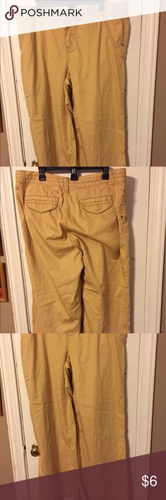 Pants by Route 66 size 18W Tan pants size 18W cotton wide leg by Route 66 in very good condition Route 66 Pants Wide Leg