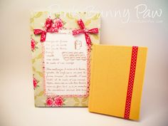 Fabric covered notebooks Bunny Paws, Fabric Covered, Notebooks, Verses, Diy Crafts, My Love, Quotes, Projects, Pink