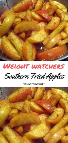 Southern Fried Apples - #weightwatchers #weight_watchers #Healthy #Southern #Fried #skinny_food #Apples #recipes #smartpoints #weight_watcher_recipes