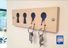 The Birch faced ply wooden key rack comes with 4 key fobs which fit into the empty key holes. You can choose different background colours to personalise to your taste. This come with a set of birch faced ply key fobs, the stainless steel key fob design can also be used on this as well and purchased for an additional £2.95. A simple design to fit into any surrounding. Background colours can be Red, Blue, Pink, Black or White. Birch faced ply front plate,18mm birch faced ply middle and the…