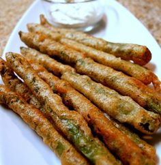 Beer Battered Asparagus w/ Lemon Dipping Sauce... Happy Hour Appetizers 43 | Hampton Roads Happy Hour