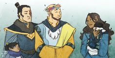 Spring festivals in the Southern Pole (Grown up Aang, Katara, and Zuko)