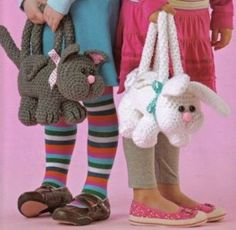 critter purs, little girls, craft, crocheted animals, crochet animals, knit, crochet bag, crochet purses, crochet patterns