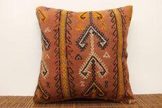 Vintage kilim pillow cover 16 x 16 Ethnic Kilim by kilimwarehouse, $52.00