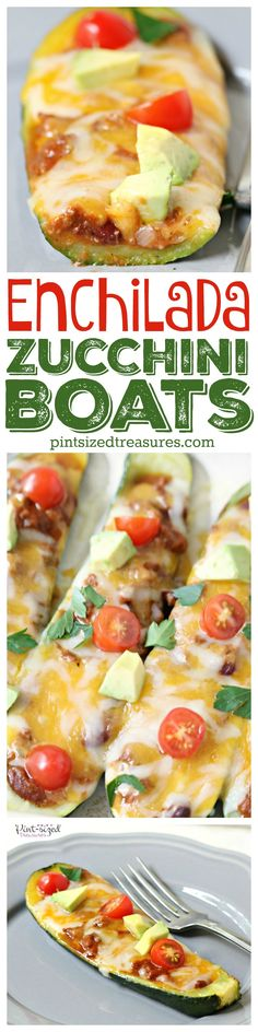 "Enchilada zucchini boats make veggie-lovers and comfort foodies unite in one DEE-LISH Tex-Mex recipe! Hurry and whip some ""boats"" up today! @alicanwrite"