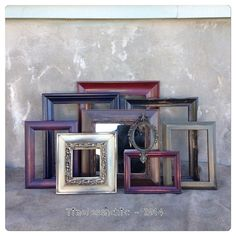 Picture Frames Distressed  Picture Frame Set  by TimelessNchic modern tones - picture frame collection