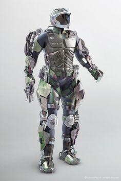 Model military exoskeleton