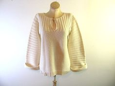 vintage knit fisherman sweater // wooden by dirtybirdiesvintage, $42.00