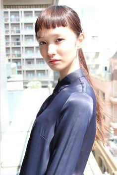 Yuka Mannami Blunt Bangs, Short Hair With Bangs, Short Hair Styles, Baby Bangs, Asian Cute, Asian Babies, Beauty Portrait, Girl Blog, Ulzzang Girl