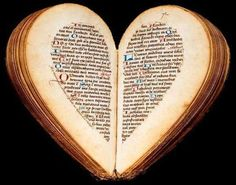 Book of Hours, 15th Century - Heart-Shaped When Opened