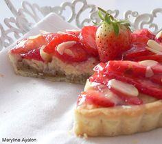 Ma Blogeria: ~~ טארט תותים על קרם שקדים ופטיסייר ~~