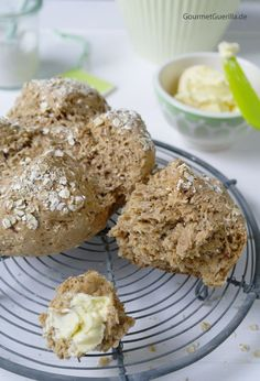 20-Minuten Haferflockenbrot mit Buttermilch / Bread with Oatmeal and Buttermilk - ready in 20 minutes