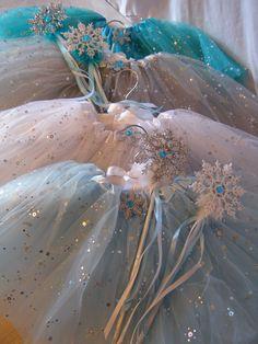 Princess Party Ideas. Beautiful FROZEN inspired tutus. Shop www.myprincesspartytogo.com #princesspartyideas #frozen #frozenfavors