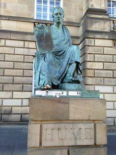 David Hume — in Edinburgh, Scotland. One of my ancestors.