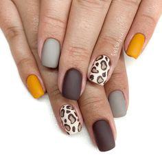 Leopard Nail Art, Leopard Print Nails, Winter Nail Art, Winter Nails, Spring Nails, Cute Nail Art, Cute Nails, Diy Nails, Fancy Nails