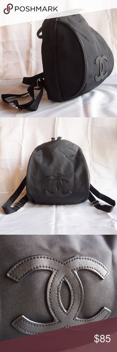 """Chanel VIP gift Bag Nylon Backpack Black 100 % Authentic Chanel VIP gift Nylon Backpack Brand new with original packaging bag. This is VIP promotional gift from a Chanel Flagship store in Asia, no hologram sticker or authenticity card for gifts. Approximately 12"""" x 10"""" x 5"""" inches. One zip pocket. Great Price !! Great Quality !! No Offer !! CHANEL Bags Backpacks"""