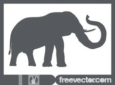 Elephant Silhouette Free Vector Elephant Silhouette, Silhouette Clip Art, Animal Silhouette, Elephant Images, Cartoon Elephant, Elephant Trunk Up, Elephant Head, Nature Vector, African Animals
