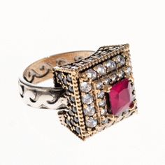 Pink Square Women Ring