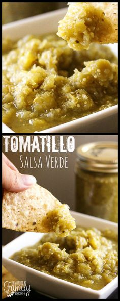 This Tomatillo Salsa Verde is so versatile! I use it to make chili verde, enchiladas, salsa verde chicken, for chips and salsa, and more! via @favfamilyrecipz