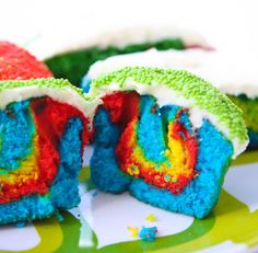 Rainbow Cupcake  ♥ Rainbow White Color Design Art Food Pretty Beautiful Colorful Fashion ♥ oreos cookies