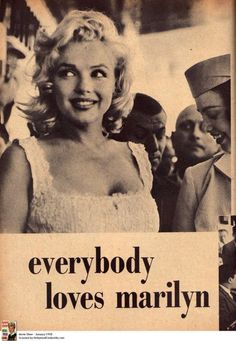 "marilyn - for not being ""skinny"" (as pop culture defines it today)...and being okay with herself and making it sexy"