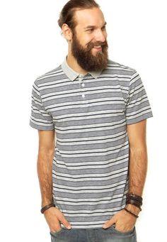 Camisa Polo FiveBlu Cinza - Marca FiveBlu