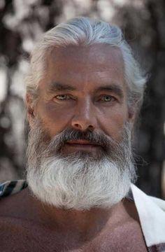 White Hair Style Ideas for Older Guys