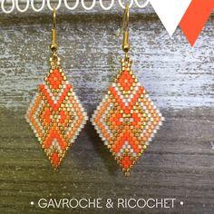 Welcome to Gavroche et Ricochet Beaded Earrings Patterns, Jewelry Patterns, Beading Patterns, Beaded Jewelry, Brick Stitch Earrings, Seed Bead Earrings, Miyuki Beads, Seed Bead Projects, Seed Beads