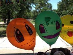 Pokemon balloons Just used sharpies :)