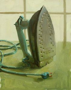 """Iron-y"" Original Oil On Panel, 14"" x 11"". Jennifer Diehl"
