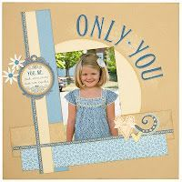 only you scrapbook page idea