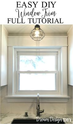 Check out this easy way to add character to windows. Easy and cheap upgrade, no angled cuts needed. Handmade Home Decor, Unique Home Decor, Cheap Home Decor, Home Upgrades, Home Renovation, Home Remodeling, Kitchen Remodeling, Diy Design, Design Ideas