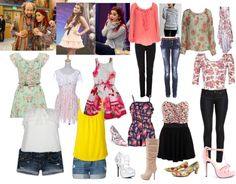 Cat valentine outfits, ariana grande outfits, sam and cat, justice clothing Basic Outfits, Preppy Outfits, College Outfits, Winter Outfits, Cute Outfits, Stylish Outfits, Icarly, Cat Valentine Outfits, Abercrombie And Fitch Dresses