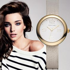 Buy now GEEKTHINK One-Piece Quartz Watches Women Brand Ladies Simple Casual Leather strap Wristwatch Gold Girl Clock Female & Gift Box just only $10.99 with free shipping worldwide  #menwatches Plese click on picture to see our special price for you
