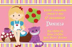 Convite digital personalizado Alice no país das maravilhas 004
