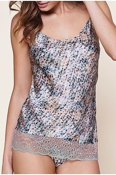 Water Reflection Silk Vest Top - Intimissimi