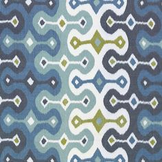 Darya Ikat Sky Fabric by Schumacher Pattern# 174832 Find this product plus Cuttings available always online. Quality direct from manufacturer. Family owned since 1971