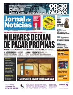 "This is the front page of today's ""Jornal de Notícias"", one of the biggest newspapers in Portugal. Visit us at http://www.jn.pt !"