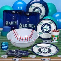 omg I need this stuff!!!! Seattle Mariners Baseball Theme Parties will be a Winner    Fans everywhere will be thrilled with the huge selection of Seattle Mariners baseball theme party ideas that are available here. The many items that are contained in one place to help you plan the best tailgate party for your team include a variety of supplies. Napkins, plates, cups, invitations, banners and decorations are just a part of the many items that are accessible. Do you need decor
