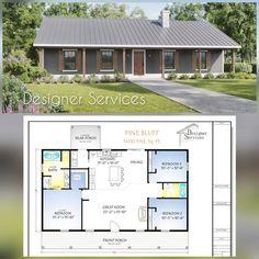 Metal House Plans, Pole Barn House Plans, Pole Barn Homes, New House Plans, Small House Plans, Shop House Plans, Simple Ranch House Plans, Metal Barn Homes, Metal House Kits