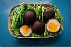 Homemade Cadbury eggs.
