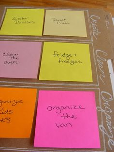 "I don't think I will make an entire binder, but I love the idea of only having a couple of items ""to do"" at a time. I constantly stress myself by thinking that I need to do everything RIGHTNOWOMG! Plus, I have an unnatural love of Post Its."