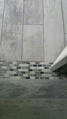 Marazzi montagna dapple gray 6 in x 24 in porcelain for Cheap alternative to stikwood