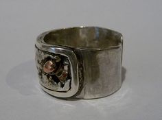 Ring on silver and copper by 962