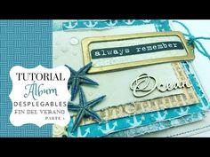 Tutorial mini álbum desplegables fin del verano Parte 1 - YouTube