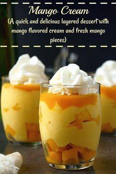 Mango Cream | Indian Mango Cream. Mango Cream. #mangocream #mango #desserts #nocookdesserts @aromaticessence
