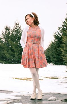 Date Night Outfit! Fit & Flare dress - ModCloth vintage-inspired shoes