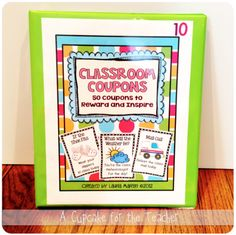A Cupcake for the Teacher: My New Behavior Reward System. 3 ring binder. You can put coupons into sheet protectors or baseball card slots.